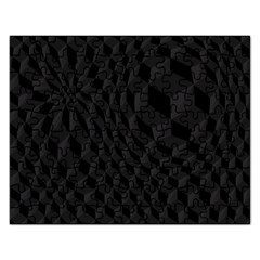 Black Pattern Dark Texture Background Rectangular Jigsaw Puzzl by Nexatart