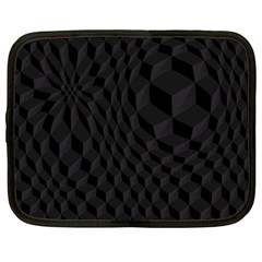 Black Pattern Dark Texture Background Netbook Case (large)