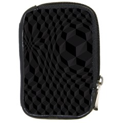 Black Pattern Dark Texture Background Compact Camera Cases