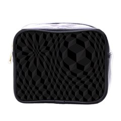 Black Pattern Dark Texture Background Mini Toiletries Bags
