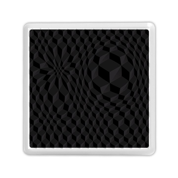 Black Pattern Dark Texture Background Memory Card Reader (Square)