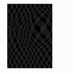 Black Pattern Dark Texture Background Large Garden Flag (two Sides)