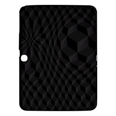 Black Pattern Dark Texture Background Samsung Galaxy Tab 3 (10 1 ) P5200 Hardshell Case  by Nexatart