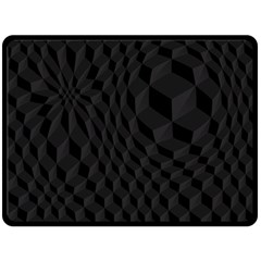 Black Pattern Dark Texture Background Double Sided Fleece Blanket (large)  by Nexatart