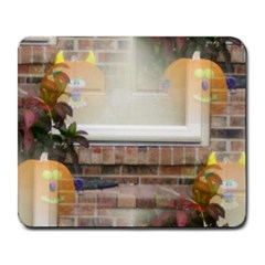 Ghostly Floating Pumpkins Large Mousepads by canvasngiftshop
