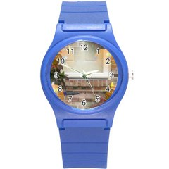 Ghostly Floating Pumpkins Round Plastic Sport Watch (s) by canvasngiftshop