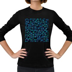Background Abstract Textile Design Women s Long Sleeve Dark T Shirts