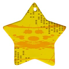Texture Yellow Abstract Background Ornament (star)
