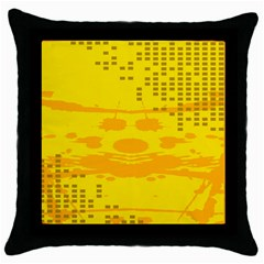 Texture Yellow Abstract Background Throw Pillow Case (black) by Nexatart