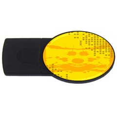 Texture Yellow Abstract Background Usb Flash Drive Oval (2 Gb) by Nexatart