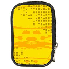 Texture Yellow Abstract Background Compact Camera Cases