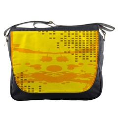 Texture Yellow Abstract Background Messenger Bags