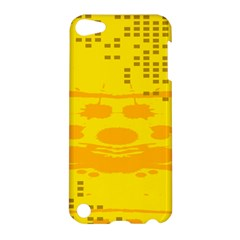 Texture Yellow Abstract Background Apple Ipod Touch 5 Hardshell Case