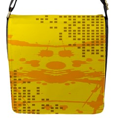 Texture Yellow Abstract Background Flap Messenger Bag (s)
