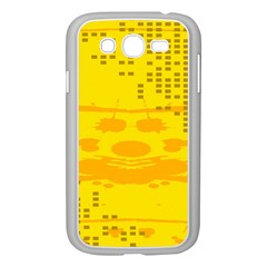 Texture Yellow Abstract Background Samsung Galaxy Grand Duos I9082 Case (white) by Nexatart