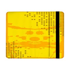 Texture Yellow Abstract Background Samsung Galaxy Tab Pro 8 4  Flip Case by Nexatart