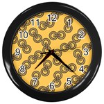 Abstract Shapes Links Design Wall Clocks (Black) Front