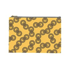 Abstract Shapes Links Design Cosmetic Bag (large)  by Nexatart