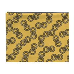 Abstract Shapes Links Design Cosmetic Bag (xl) by Nexatart
