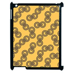 Abstract Shapes Links Design Apple Ipad 2 Case (black) by Nexatart
