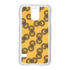 Abstract Shapes Links Design Samsung Galaxy S5 Case (white)