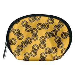 Abstract Shapes Links Design Accessory Pouches (medium)  by Nexatart