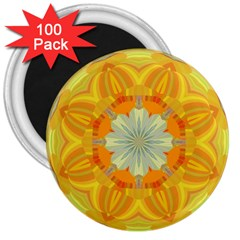 Sunshine Sunny Sun Abstract Yellow 3  Magnets (100 Pack)