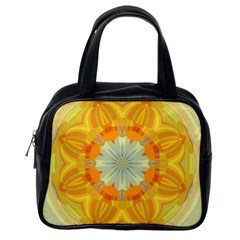 Sunshine Sunny Sun Abstract Yellow Classic Handbags (one Side) by Nexatart