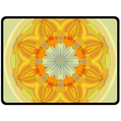 Sunshine Sunny Sun Abstract Yellow Double Sided Fleece Blanket (large)