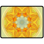 Sunshine Sunny Sun Abstract Yellow Double Sided Fleece Blanket (Large)  80 x60 Blanket Front