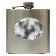 Puzzle Grey Puzzle Piece Drawing Hip Flask (6 Oz) by Nexatart