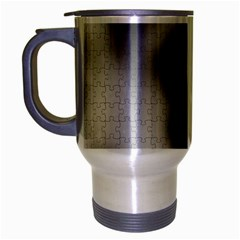 Puzzle Grey Puzzle Piece Drawing Travel Mug (silver Gray)