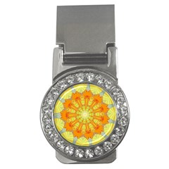 Sunshine Sunny Sun Abstract Yellow Money Clips (cz)  by Nexatart