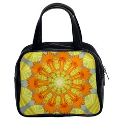Sunshine Sunny Sun Abstract Yellow Classic Handbags (2 Sides) by Nexatart