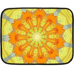 Sunshine Sunny Sun Abstract Yellow Double Sided Fleece Blanket (mini)  by Nexatart