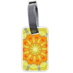 Sunshine Sunny Sun Abstract Yellow Luggage Tags (one Side)  by Nexatart
