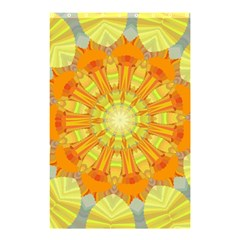 Sunshine Sunny Sun Abstract Yellow Shower Curtain 48  X 72  (small)  by Nexatart