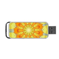 Sunshine Sunny Sun Abstract Yellow Portable Usb Flash (one Side) by Nexatart