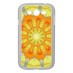 Sunshine Sunny Sun Abstract Yellow Samsung Galaxy Grand Duos I9082 Case (white)