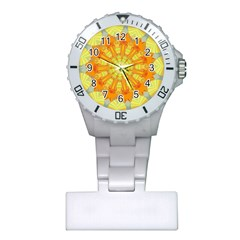 Sunshine Sunny Sun Abstract Yellow Plastic Nurses Watch by Nexatart