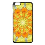 Sunshine Sunny Sun Abstract Yellow Apple iPhone 6 Plus/6S Plus Black Enamel Case Front