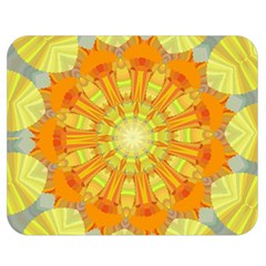 Sunshine Sunny Sun Abstract Yellow Double Sided Flano Blanket (medium)  by Nexatart