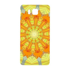 Sunshine Sunny Sun Abstract Yellow Samsung Galaxy Alpha Hardshell Back Case by Nexatart