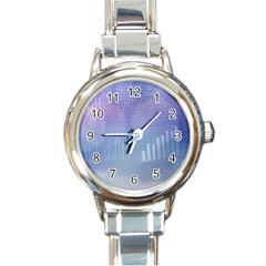 Business Background Blue Corporate Round Italian Charm Watch by Nexatart
