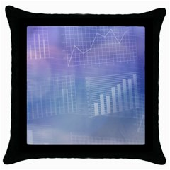 Business Background Blue Corporate Throw Pillow Case (black) by Nexatart