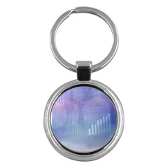 Business Background Blue Corporate Key Chains (round)  by Nexatart