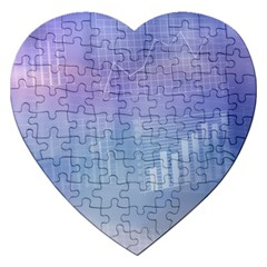 Business Background Blue Corporate Jigsaw Puzzle (heart) by Nexatart