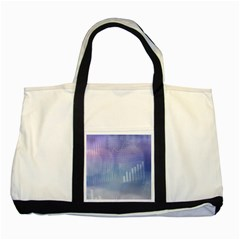 Business Background Blue Corporate Two Tone Tote Bag by Nexatart