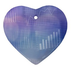 Business Background Blue Corporate Heart Ornament (two Sides)