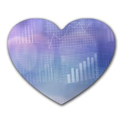 Business Background Blue Corporate Heart Mousepads by Nexatart